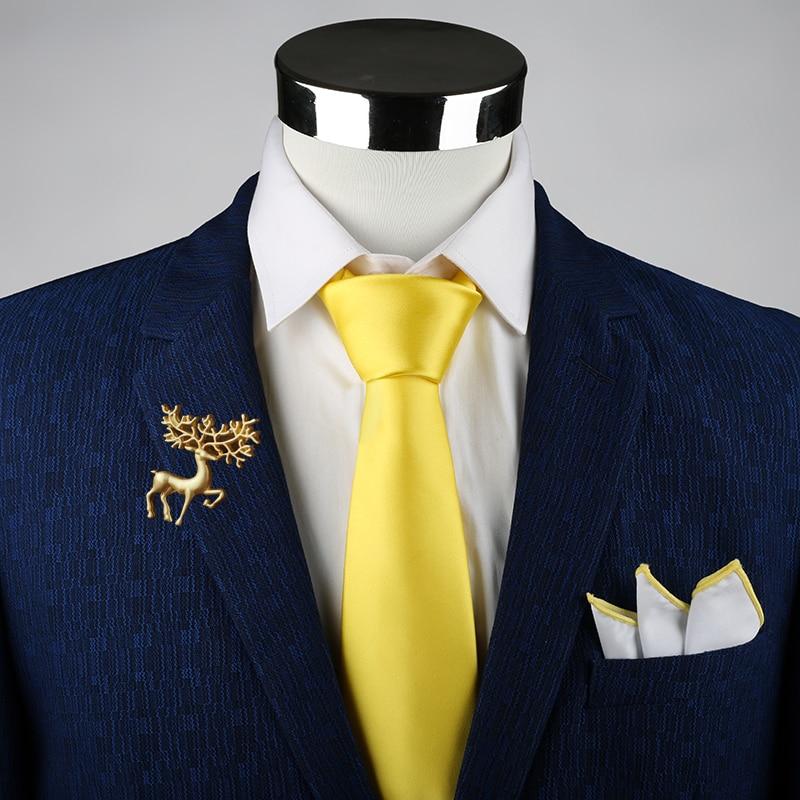 New Arrival Classic Mens Tie Silk Formal Necktie Krawatten Herren Solid Gold Red Yellow Ties For Man Business Wedding Gift Party