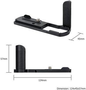 Image 2 - Hand Grip Quick Release Plate L Bracket Tripod Holder For Panasonic GX9 GX7 Mark II III GX7M3 GX7M2 GX85 GX80 Replace DMW HGR2