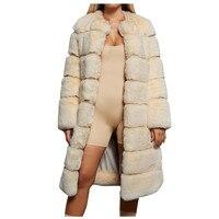 Coat 2019 Top Women Plus Size Short Faux Coat Warm Furry Faux Long Jacket Long Sleeve Outerwear Ladies Soft Comfortable Coat