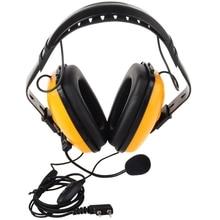 Noise Canceling with Mic Plug Headset Ptt Mic Earpiece Headphone for Kenwood Puxing Tyt Baofeng Weierwei Etc Walkie Talkie 2Pin цена в Москве и Питере