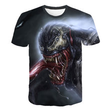 Summer Girls Boys Avengers 4 T shirt Baby Kids Cool 3d T-shirt Children Super Hero Spiderman Venom Tops Brand Tee For 4-20Y