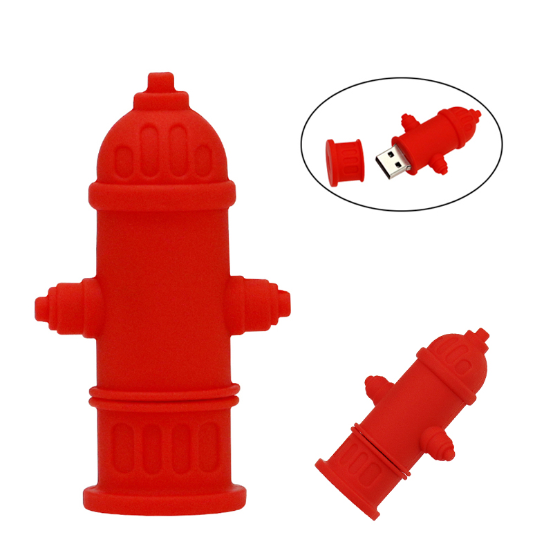 Flash Memory Stick Fire Hydrant Water Valve Pen Drive 128 256 Gb 4GB 8GB 16GB 32GB 64GB USB Flash Drive Pendrive Red USB Stick