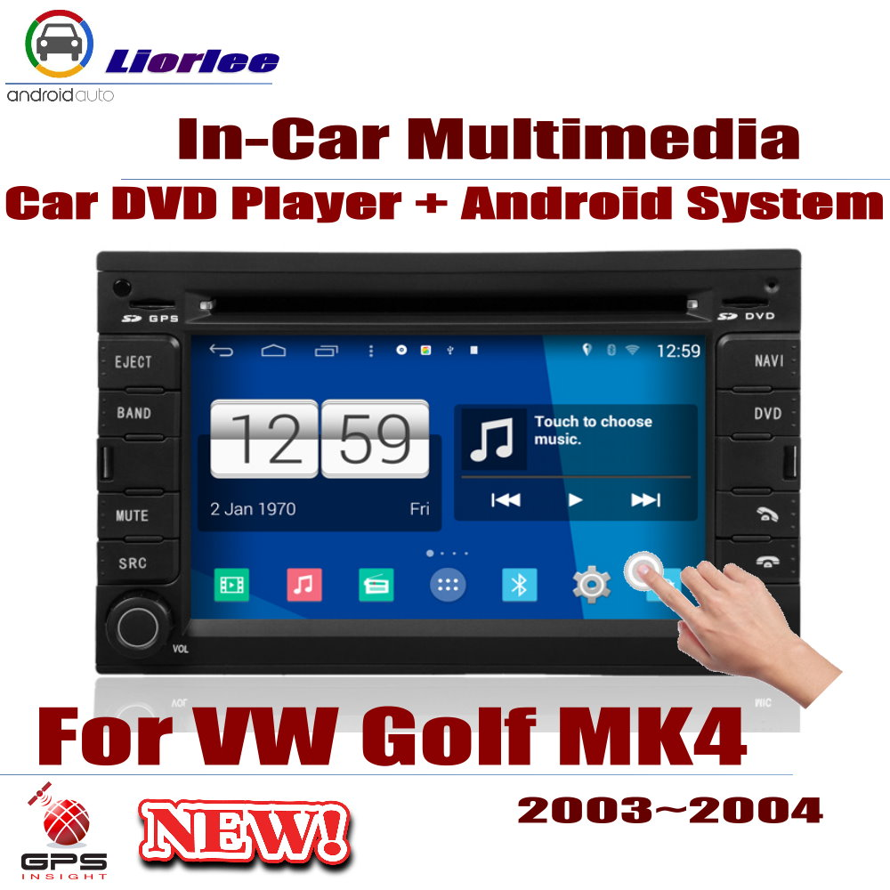 For Volkswagen VW <font><b>Golf</b></font> <font><b>MK4</b></font> 2003~2004 Car Android Player DVD GPS Navigation System HD <font><b>Screen</b></font> Radio Stereo Integrated Multimedia image