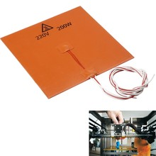 200x200mm 220v 200W Silicone Rubber Heating Heater Heated Bed for 3d Printer(China)