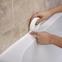 Diy auto-adesivo pvc selaing fita banheiro chuveiro toalete cozinha impermeável fita de vedação vinil impermeável papel de parede fronteira fita