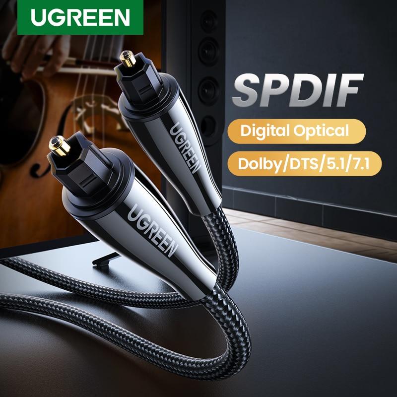 Ugreen Toslink Digital Kabel Optical Fiber Audio Kabel Adapter Fiber Optic Toslink für TV Blueray PS3 XBOX DVD CD Mini disc AV