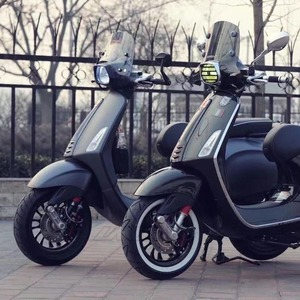 "Image 4 - 4 pçs/set 12 ""branco retro borracha roda hub lado adesivo, anel para piagem vespa gts gtv sprint primavera scooter 12 polegadas 150"