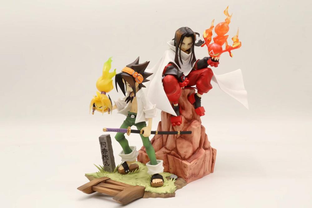 Anime 20CM Shaman King Hao /18cm Yoh Asakura 1/8 Scale PVC Figure Collectible Model Toys Doll Gift