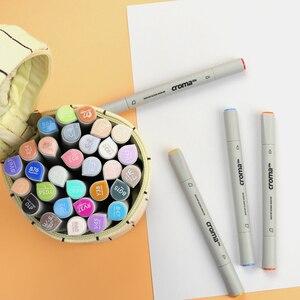 Image 4 - Croma Doppie Teste di Pennarelli Artistici 12/24/36/48/60/72/216 Colori Impermeabile Schizzo grassa Marcatore A Base di Alcool Per Anime Studenti di Disegno