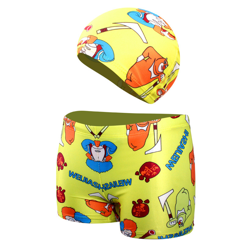 2018 New Style Europe And America Hot Selling Hot Sales Children Male Baby Hat Swimming Trunks Hot Springs Swimming Trunks