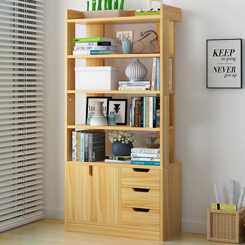 Simplicity Bookcase Bookshelf Storage Province Space Bedroom Living Room Simple Multi-functional Economic Storage Boycase
