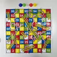 1pc Snake Ladder Flying Chess Board Game Set Brain Teaser Family Party  TDO