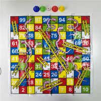 Children Snake Ladder Plastic Flight Chess Set Portable Board Game Funny Family Party Games Toys for Kids