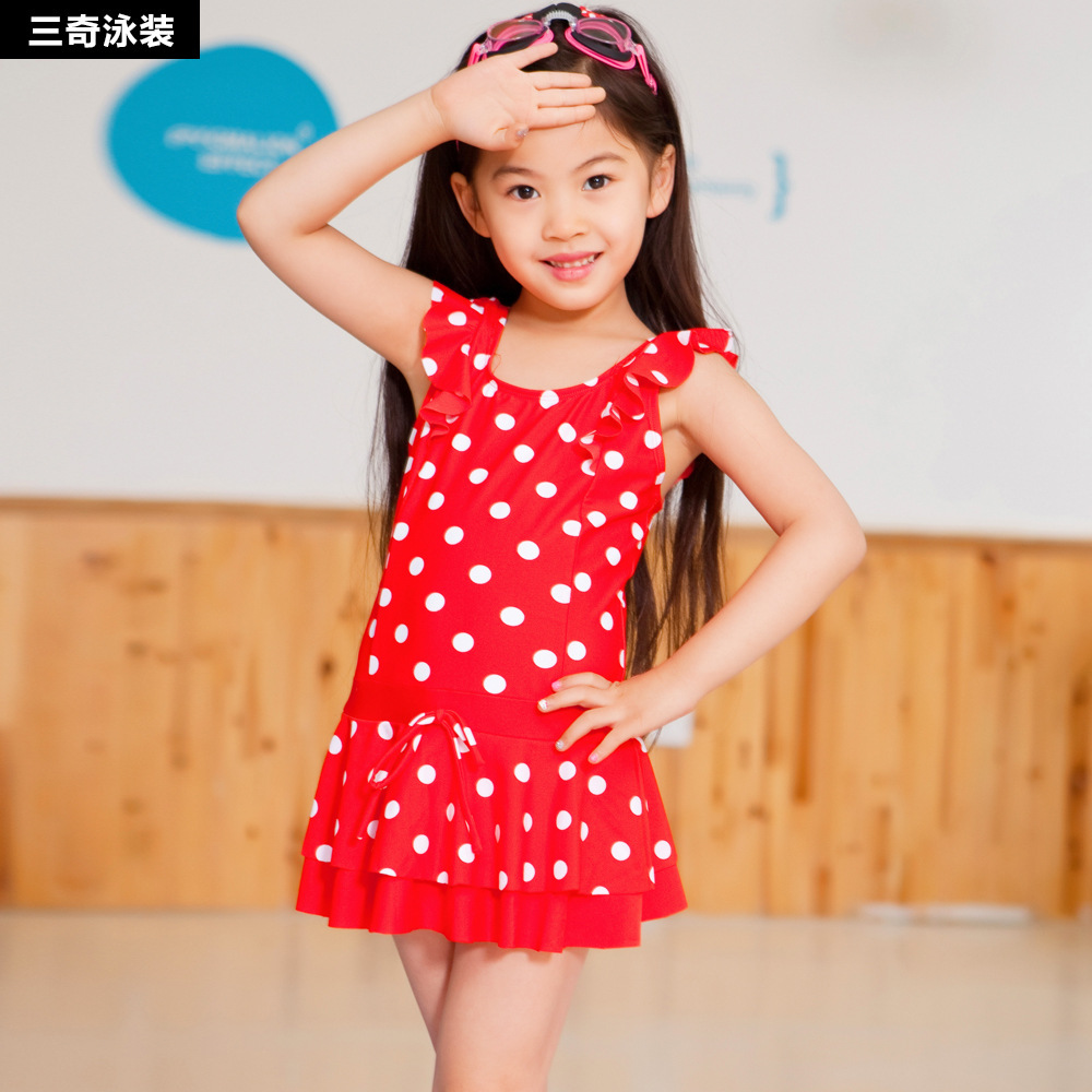 Manufacturers Direct Selling Sanqi KID'S Swimwear Dress-Big Boy Little Princess Girls Hot Springs GIRL'S Baby Swimwear
