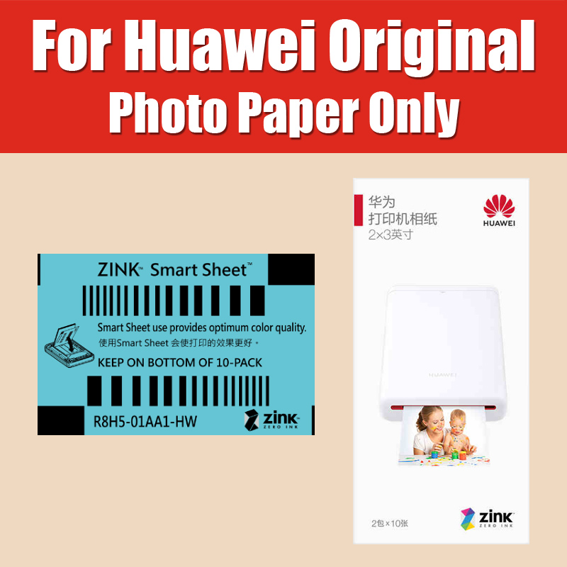 Original Zink 2*3 Inch 50*76mm For Huawei Printer Paper