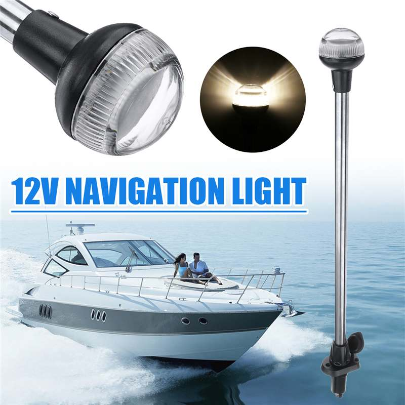 24inch DC 12V LED Navigation Lights Wateproof IP65 Plug In Stern Anchor Boat Marine Lamp 4500K