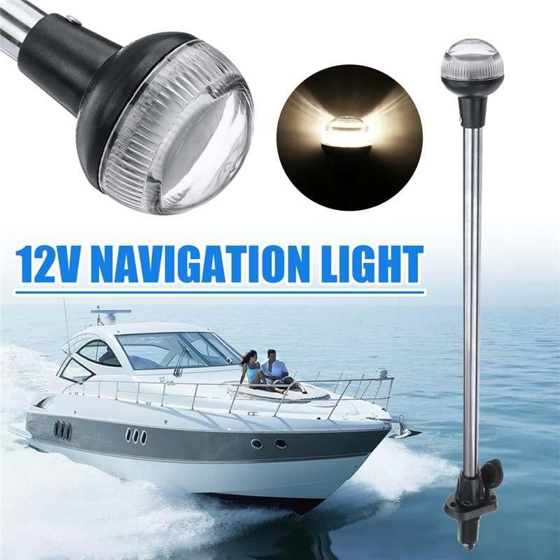 24inch DC 12V LED Navigation Lights Wateproof IP65 Plug In Stern Anchor Boat Marine Lamp 4500K