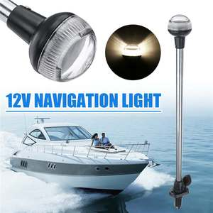 24inch DC 12V LED Navigation Lights Wateproof IP65 Plug in Stern Anchor Boat Marine Lamp 4500K(China)
