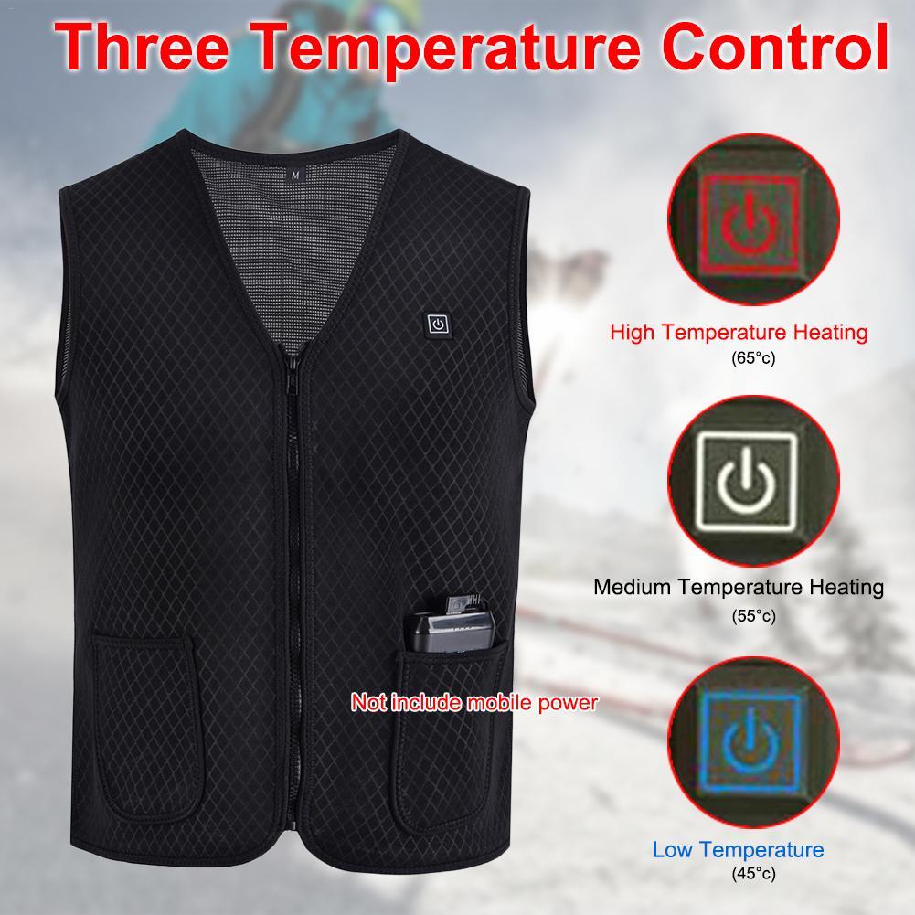alivio da dor terapia magnetica colete aquecido do infravermelho distante aquecimento electrico colete casaco para moto
