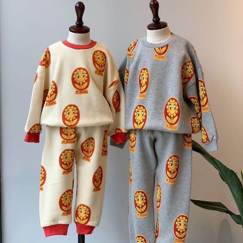 Mini 2020 New Autumn Winter Long Sleeve Sweater Baby Girls Costumes Children Tracksuits Boys Sweatshirts Kids Pants Christmas 6