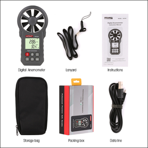 Image 5 - RZ Digital Anemometer Thermometer Humidity Meter Portable Wind Speed Meter With USB Bluetooth Anemometro Handheld Wind Meter