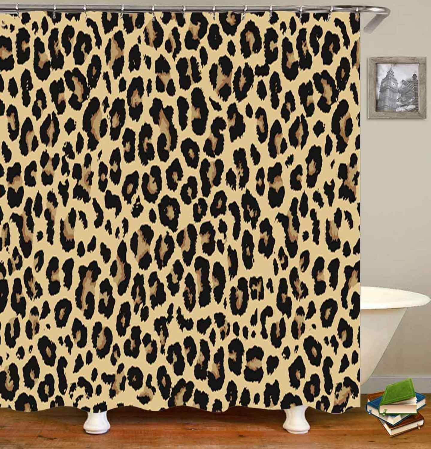 Trendy African Style Leopard Bathroom