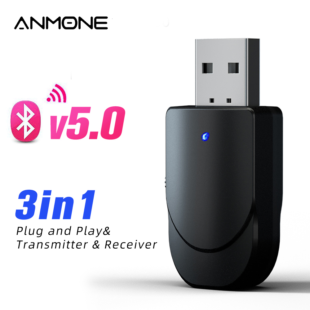 3 IN 1 USB Bluetooth Adapter 3.5mm Jack Output Wireless Bluetooth Transmitter Aux Audio Bluetooth Receiver For Car TV Speaker
