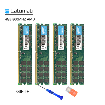 brand new ddr2 800 mhz pc2 6400 16gb 4x4gb memoria ram for desktop ram compatible intel and amd mobo lifetime warranty Latumab 4GB 8GB DDR2 800mhz PC2 6400 AMD Cpu Chipset Motherboard Memory Ram PC Memory RAM Module 1pcs/2pcs/4pcs High Quality
