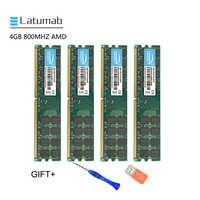 Latumab 4GB GB DDR2 800mhz PC2 8 6400 AMD Cpu Placa Mãe com Chipset de Memória Ram Módulo de Memória RAM do PC 1 pcs/2 pcs/4 pcs Alta Qualidade
