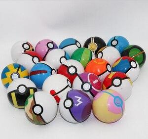 Image 2 - 21/pcs balls Action & Toy Figures 7cm balls +21pcs Free Random Mini Figures Inside Anime Action & Toy for Children