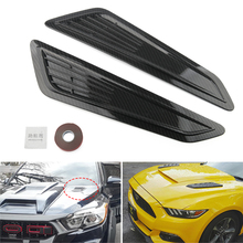 цена на Universal ABS Plastic Car Air Intake Scoop Bonnet Hood Vent Front Hood Vent decorate For Ford Audi Honda bmw Panel Trim 2pcs