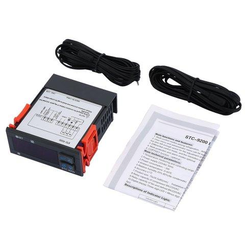 Controlador de Temperatura Termorregulador com Função de Alarme Digital Termostato Regulador Ventilador Descongelamento Refrigeração Stc-9200 Mod. 172251
