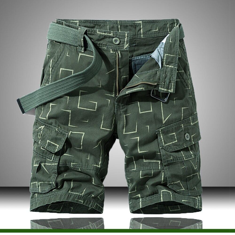 Шорты мужские с принтом, повседневные Бермуды, короткие штаны, деловой стиль, на лето