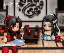 Figura de límite del Untamed Wei Wuxian Lan Wangji, figura de acción, modelo de juguete, exhibición, Colección, Cosplay, abanico lindo, regalo nuevo raro