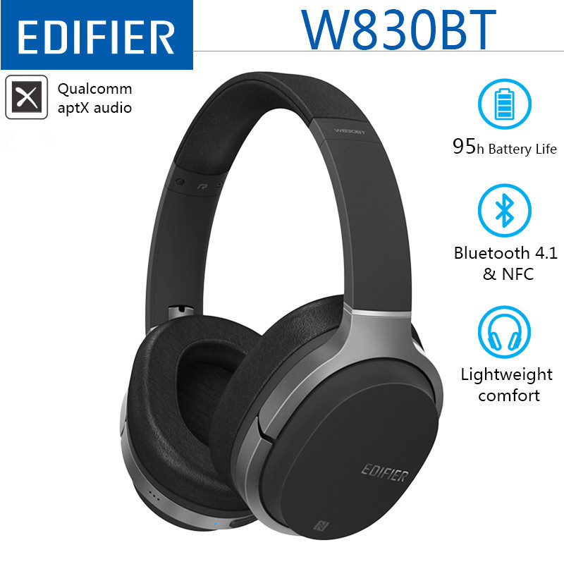 Edifier W830BT   W800BT Wireless Headphones Stereo Sound Bluetooth Headset BT 4 1 with 3 5mm Cable for iPhone Samsung Xiaomi