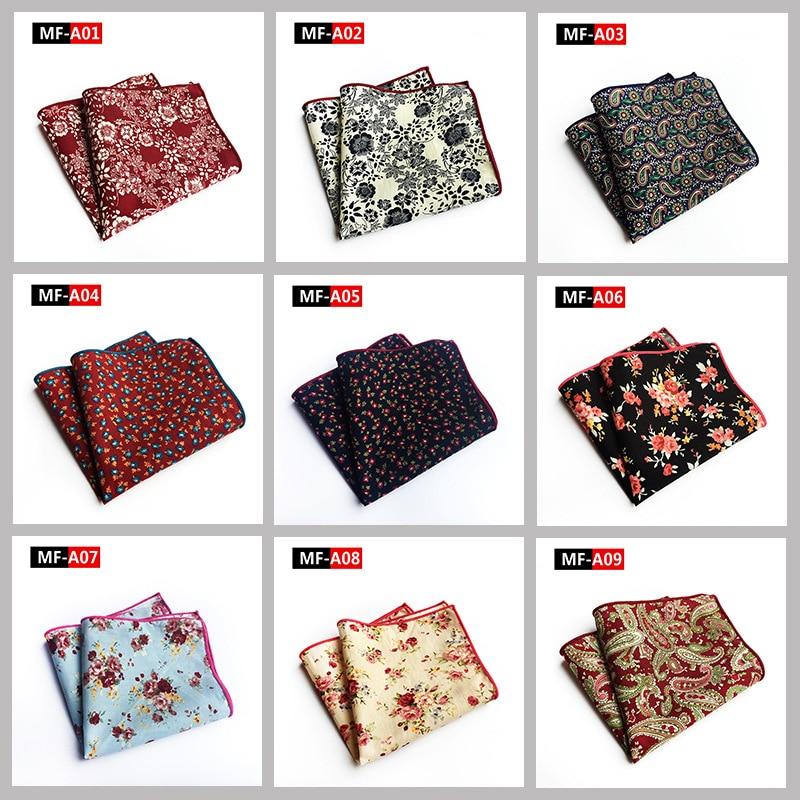 Matagorda 100% Cotton Hanky Floral Flower Printed Pocket Square Handkerchief Soft Tie For Men Mouchoir Cravat Scarf Jewelry