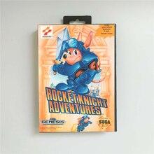 صاروخ فارس مغامرات الولايات المتحدة الأمريكية غطاء مع صندوق البيع بالتجزئة 16 بت MD بطاقة الألعاب ل Sega Megadrive نشأة لعبة فيديو وحدة التحكم