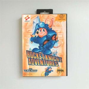 Image 1 - Rocket Knight Adventures funda de EE. UU. Con caja de venta al por menor, tarjeta de juego MD de 16 bits para Sega Megadrive Genesis, consola de videojuegos