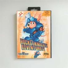 Rocket Knight aventures couverture américaine avec boîte de détail 16 bits MD carte de jeu pour Sega Megadrive Genesis Console de jeu vidéo