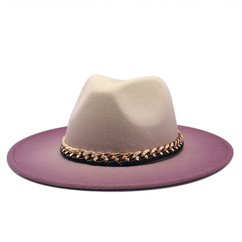 2020 Winter Autumn Imitation Woolen Women Men Ladies Fedoras Top Hat Jazz Caps European American Round Caps Bowler Hats