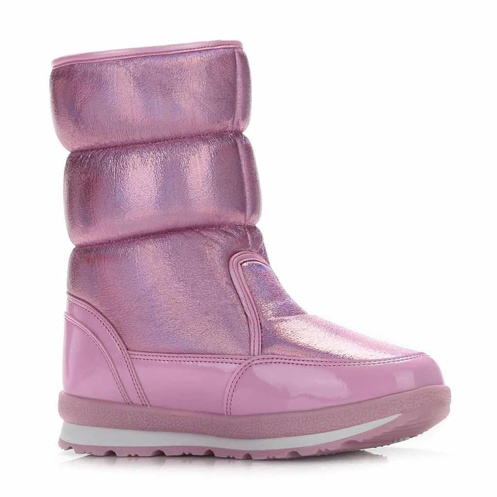 Vrouwen Laarzen Winter Schoenen Vrouwen Snowboots Vrouwen Waterdichte Pluche Platte Laarzen Winter Vrouwelijke Warm Botas Mujer 2019 Sport Booties