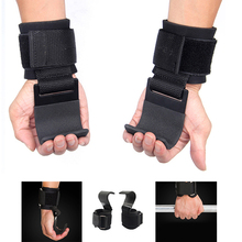 1 pair Fitness Weight Lifting Hook Training Gym Grips Gloves