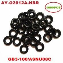 Borracha de nitrile butadiene injetora universal, 1000 peças (nbr) encomenda para asnu08c/GB3 100 o anéis para kits de reparo de injetor de combustível