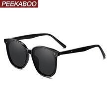 Peekaboo oversized women sunglasses square korean stlye uv40