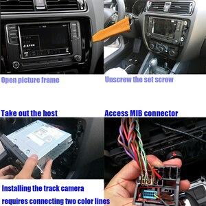 Image 5 - For BMW X1/X3/X5 2013~2015 Original screen HD reversing image driving recorder rear view camera+Rear view trajectory + radar