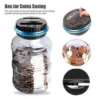 Electronic Digital Coin Automatic Counter Money Counting Jar Saving Piggy Bank