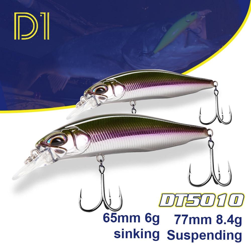 Рыболовные приманки D1, 2021, 77 мм, 8,4 г, подтягивающие рыболовные воблеры в виде гольяна, реалистичные плавающие воблеры для щуки, жесткая прима...