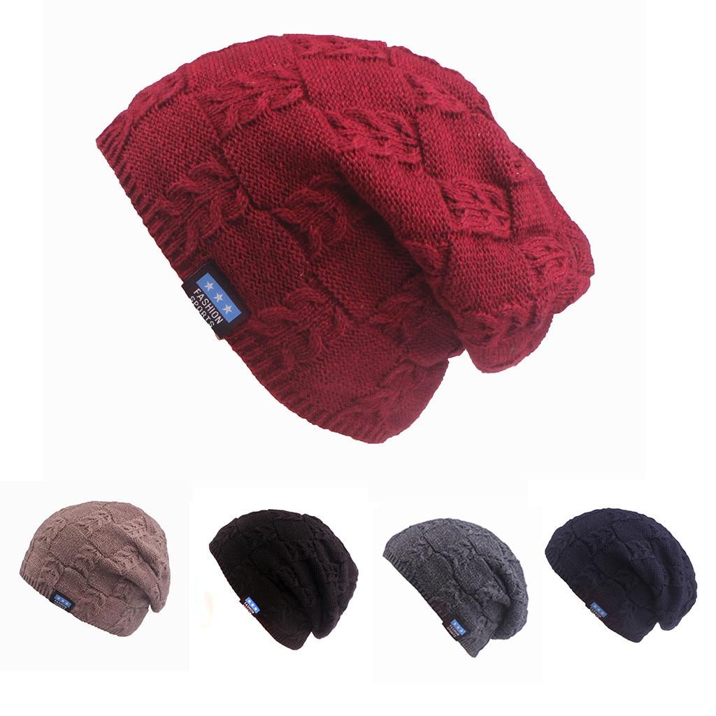 Fashion Men Women Baggy Crochet Winter Wool Ski Beanie Skull Slouchy Caps Hat