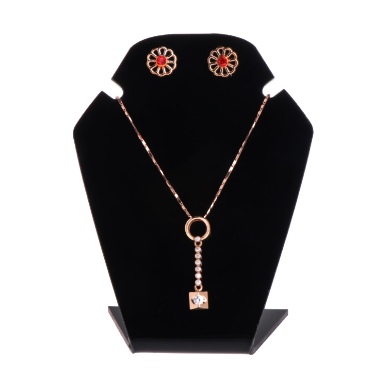 3pcs Jewelry Display Shelf Necklace Pendant Earrings Stud Stand Holder Showcase
