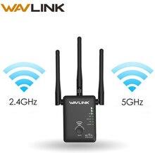 Wavlink беспроводной wifi удлинитель 750 Мбит/с Wifi ретранслятор/маршрутизатор двухдиапазонный 2,4 и 5 ГГц Wifi сетевой усилитель сигнала с большим диапазоном